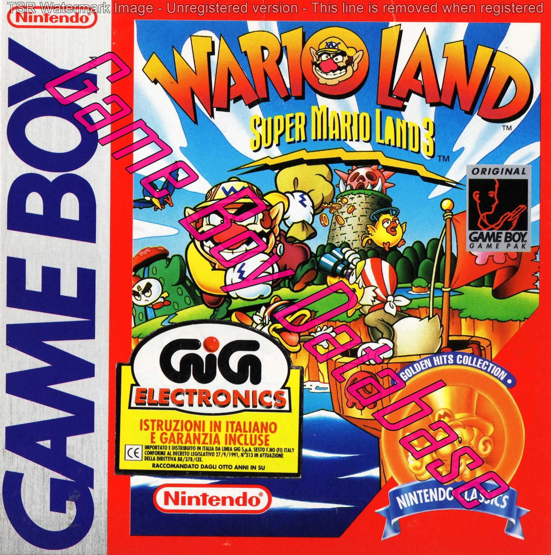 Liste des jeux format classics boîte rouge game boy 2868