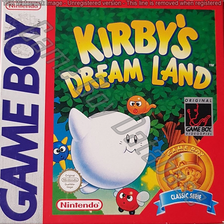 Liste des jeux format classics boîte rouge game boy 3079