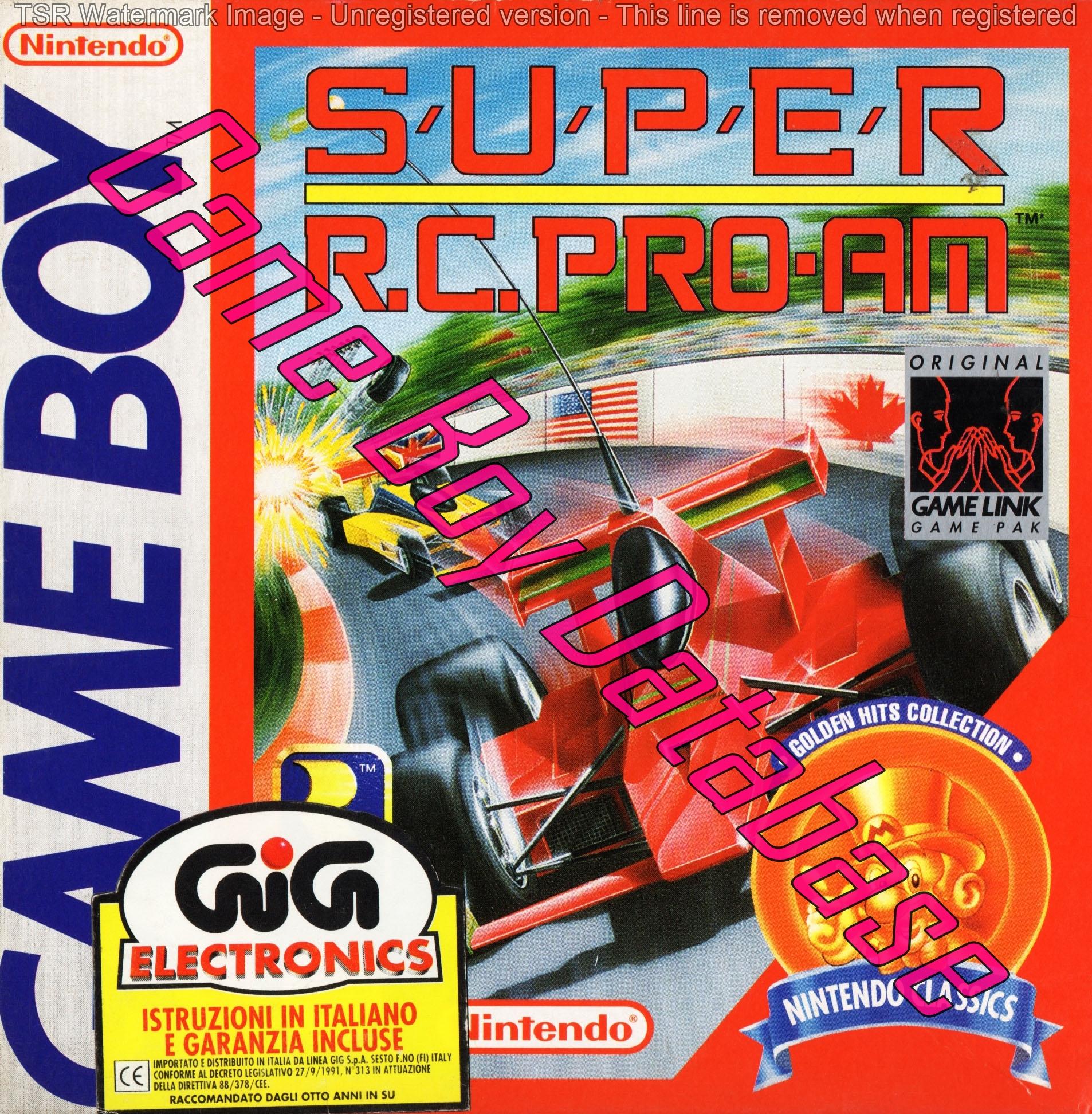 Liste des jeux format classics boîte rouge game boy 3260