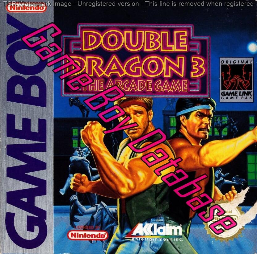 Dmg Dx Fah Double Dragon Iii The Arcade Game